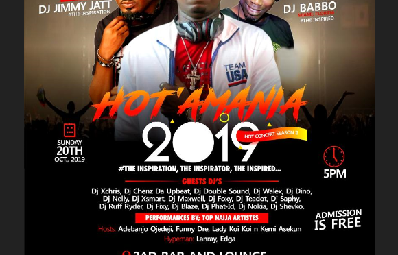 HOT' AMANIA 2019 #THE INSPIRATION, THE INSPIRATOR & THE INSPIRED