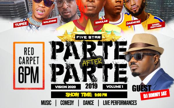 #Event: FIVE-STAR PARTE AFTER PARTE 2019 #Club9 #Vol 1